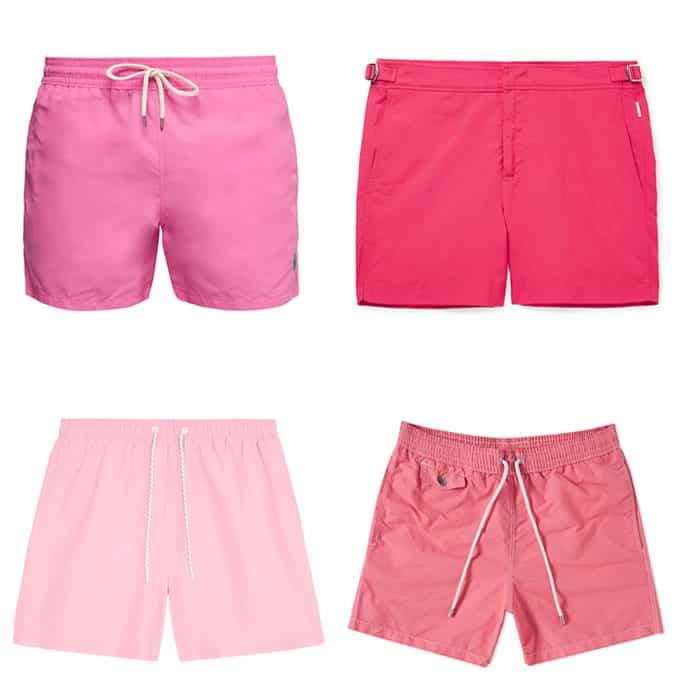 pink swimwear men