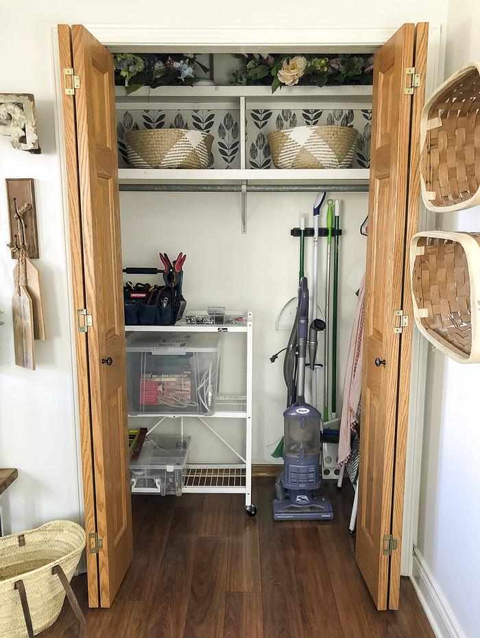 Small Utility Closet Organizing Ideas - example graceinmyspace
