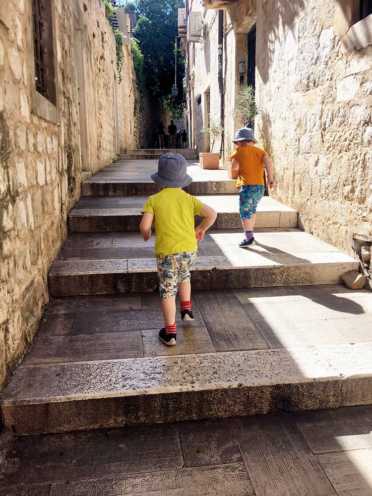 Even if Dubrovnik doesn't have many activities designed just for kids it is full of little alley and staircase that they will love!