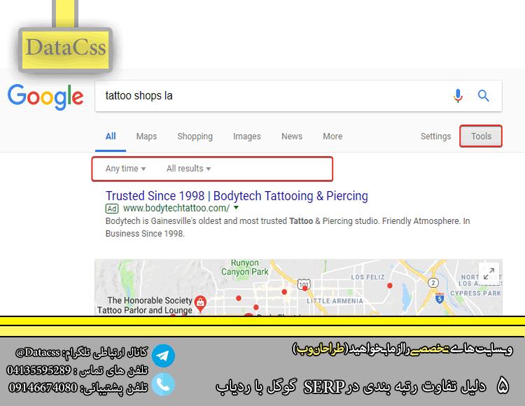 fg - 5 دلیل تفاوت رتبه بندی در SERP گوگل با ردیاب
