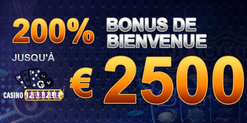 Casino Purple bonus