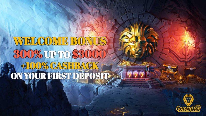 Golden Lion Casino Welcome Bonus