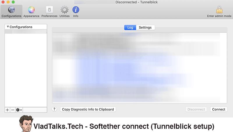 Softether VPN Mac - Tunnelblick setup