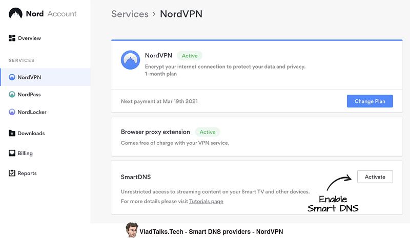 Smart DNS providers - NordVPN