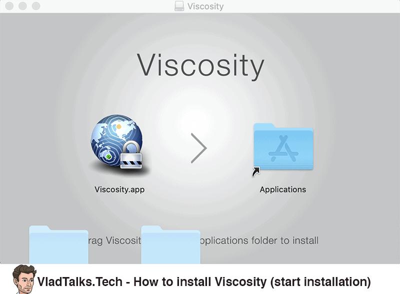 How to install Viscosity - Start installation