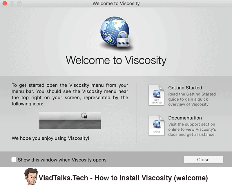 How to install Viscosity - Welcome