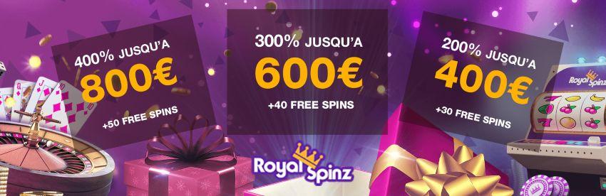 RoyalSpinz Bonus de casino