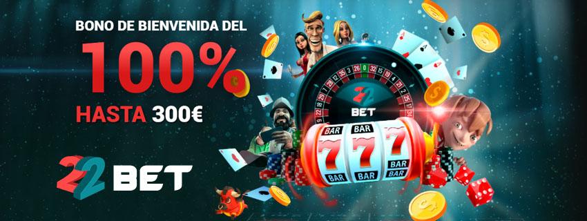 22Bet Casino Bono Bienvenida