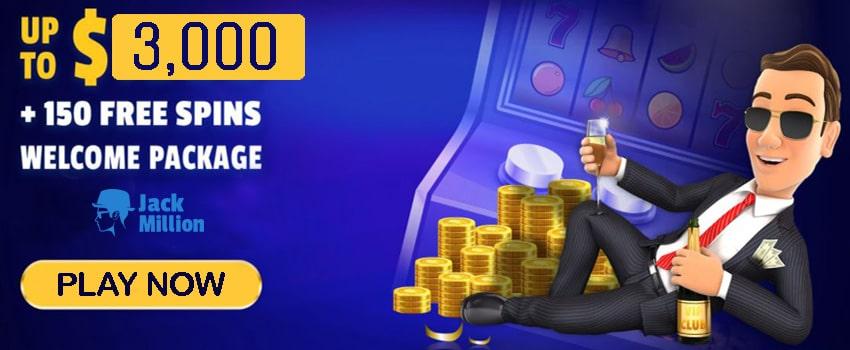 Jack Million Casino Welcome Bonus
