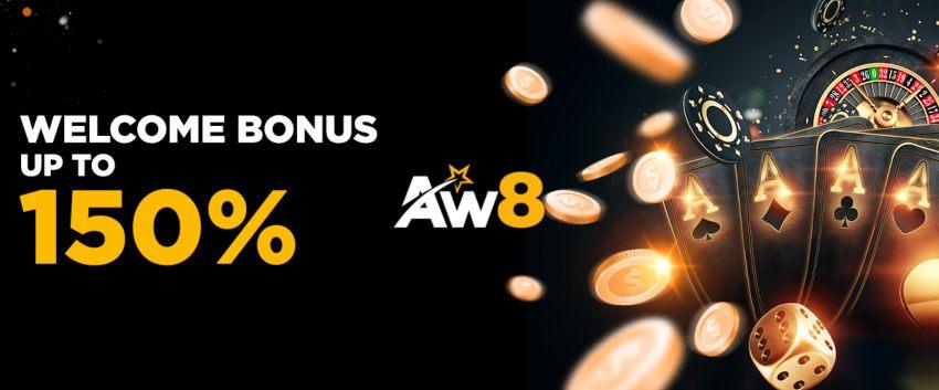 AW8 Casino Welcome Bonus