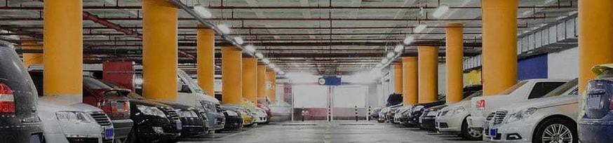 busy parking garage