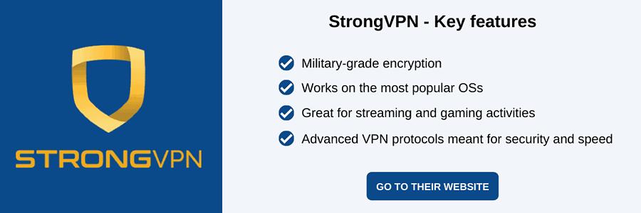 StrongVPN Black Friday VPN deals