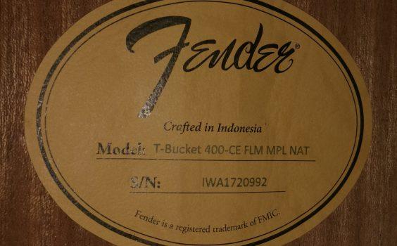 FENDER T-BUCKET 400CE FLM NATURAL