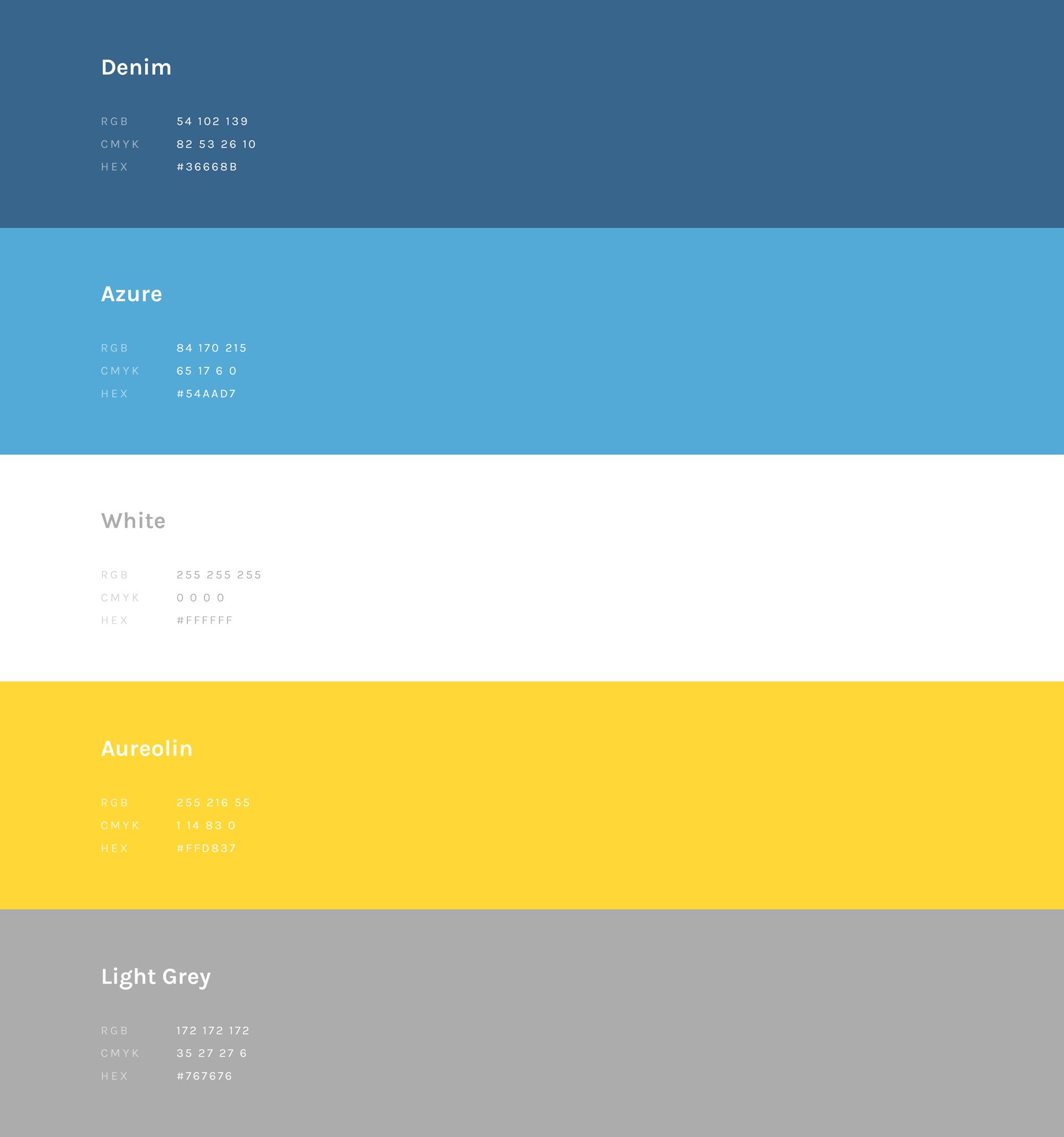 Fort Productions Colour Palette