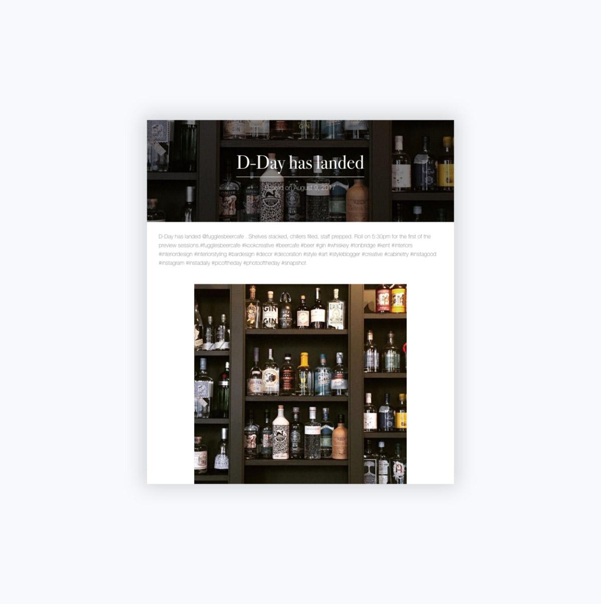 Kook Creative Blog Page Tablet