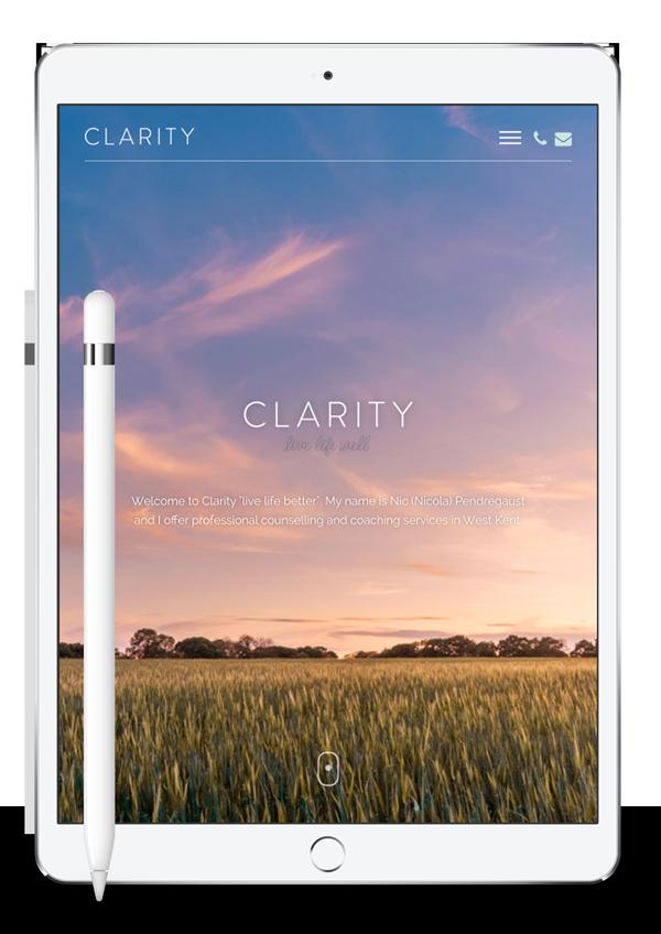 Clarity Home Page iPad