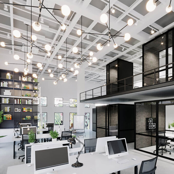 Planeka officiële dealer van Bow Fit Out voor modulaire kantoorunits