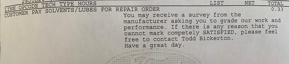 rv steering repair bill 2
