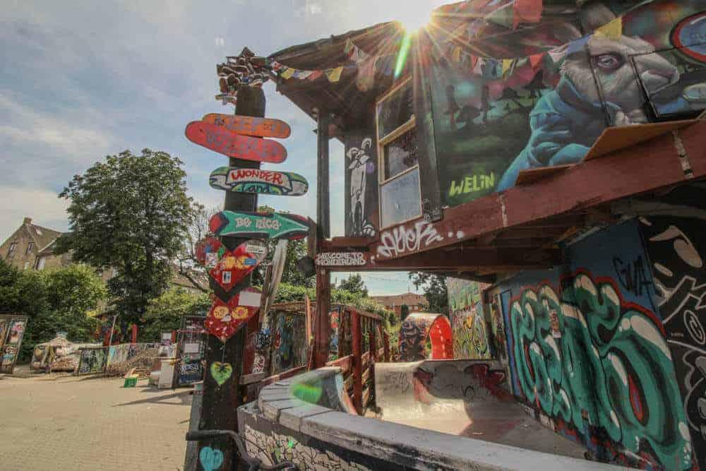 Am Skaterpark Christiania