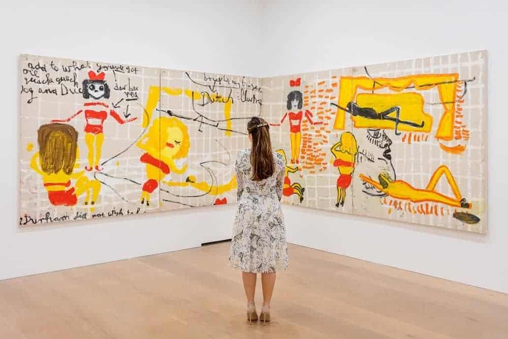 Yellow, Girls I (2017) installation view