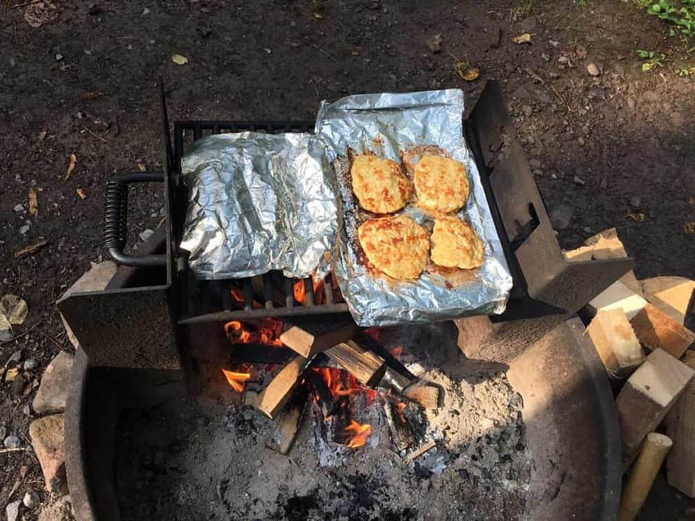 chicken parm burgers and zesty zucchini strips