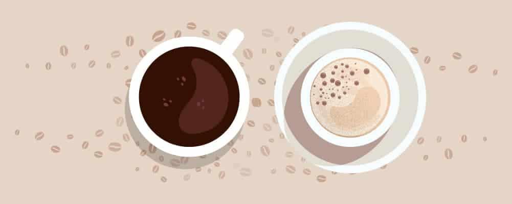 3.Black Coffee or Milky Coffee