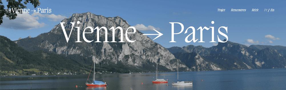 Design site de voyage Vienne to Paris