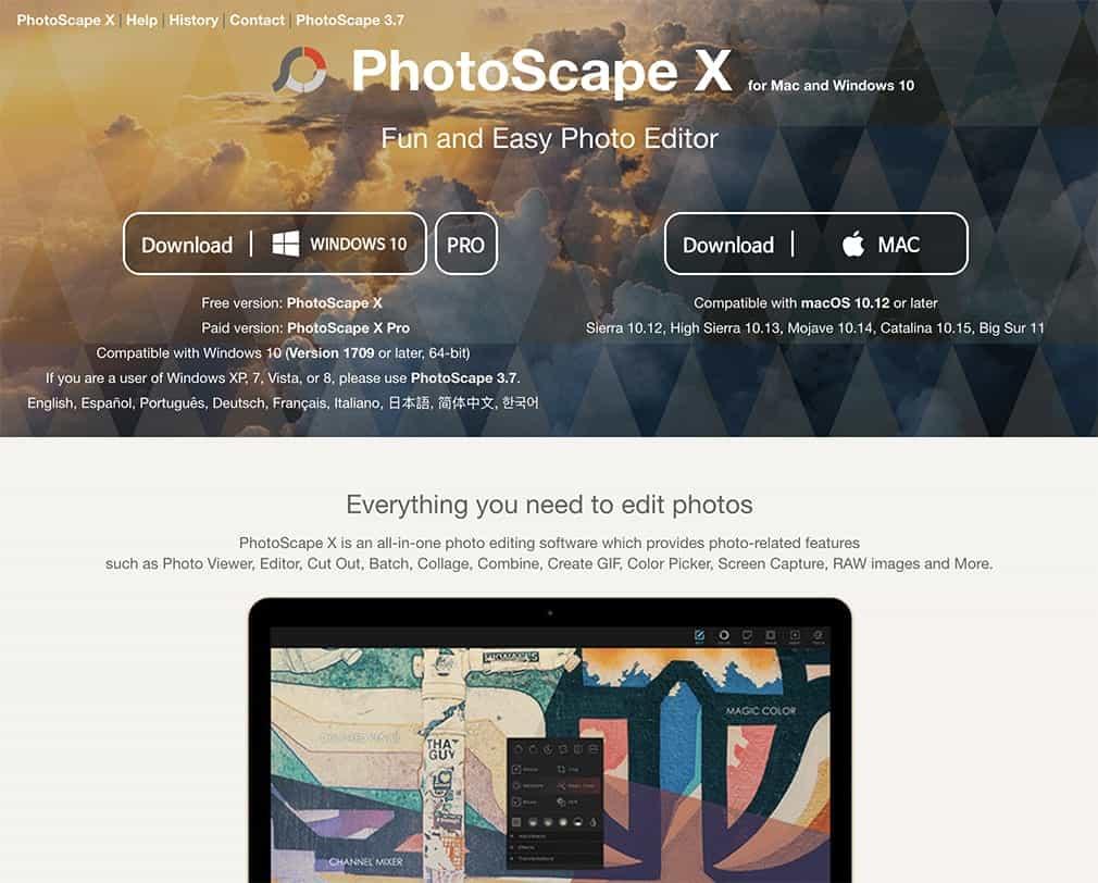 photoscape x free photoshop alternative