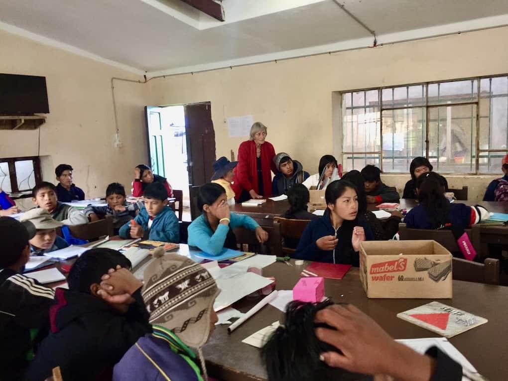 SES-Expertin beim Workshop in Bolivien
