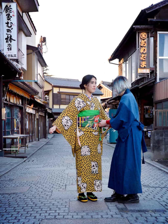 Kimono-Mode prägt Anjis Leben in Japan