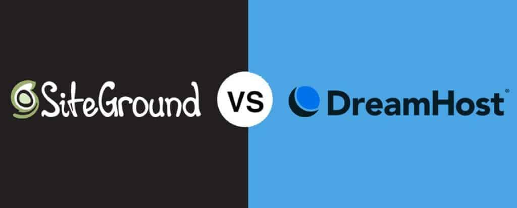SiteGround vs DreamHost comparison
