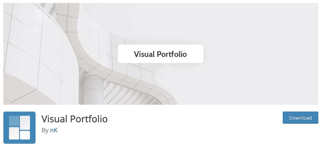 visual portfolio plugin free