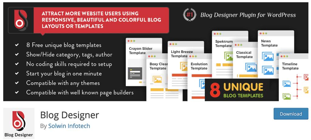 Blog Designer WordPress Plugin 2020