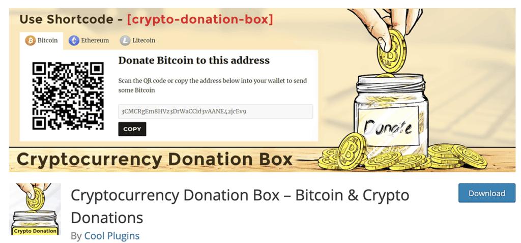 Cryptocurrency Donation Box Free Plugin 2020