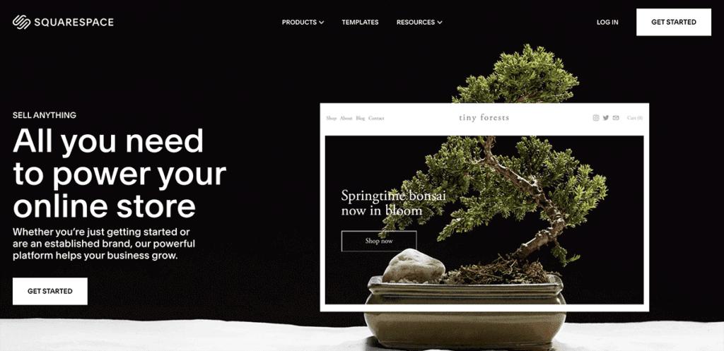 SquareSpace commerce platform solution 2020