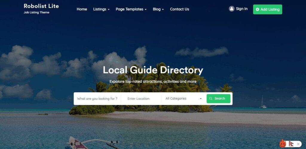 Free Directory Listing WordPress Themes
