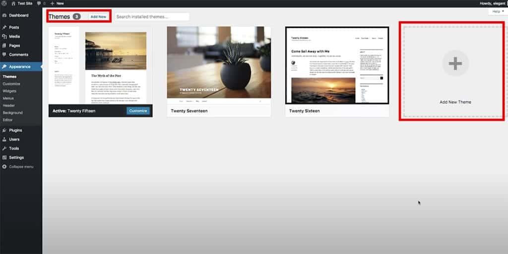 add new theme to wordpress dashboard