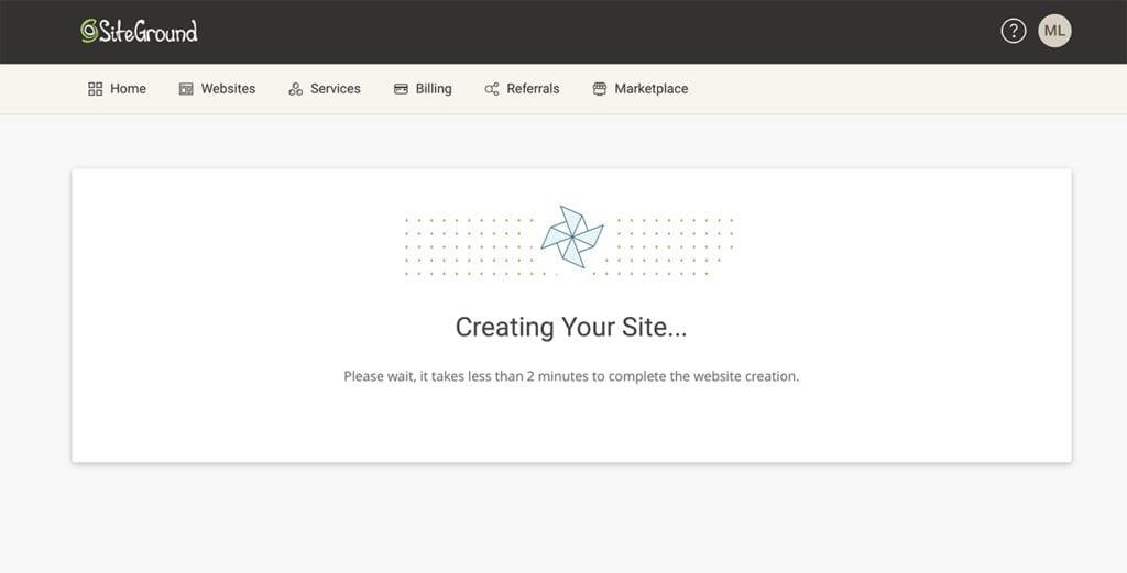 creating your website screen
