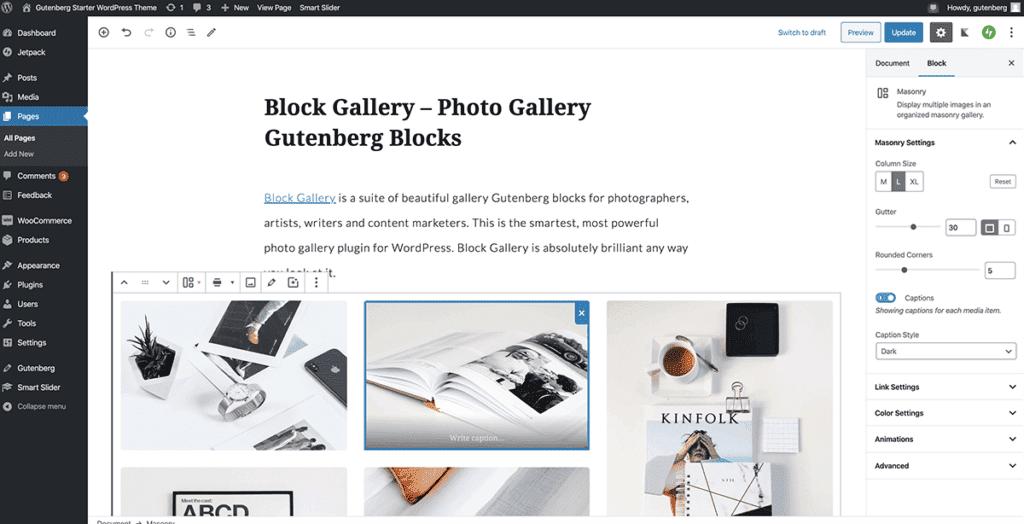 WordPress Gutenberg Portfolio building in simple steps