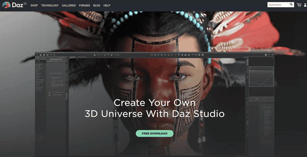 DAZ 3D Studio Software