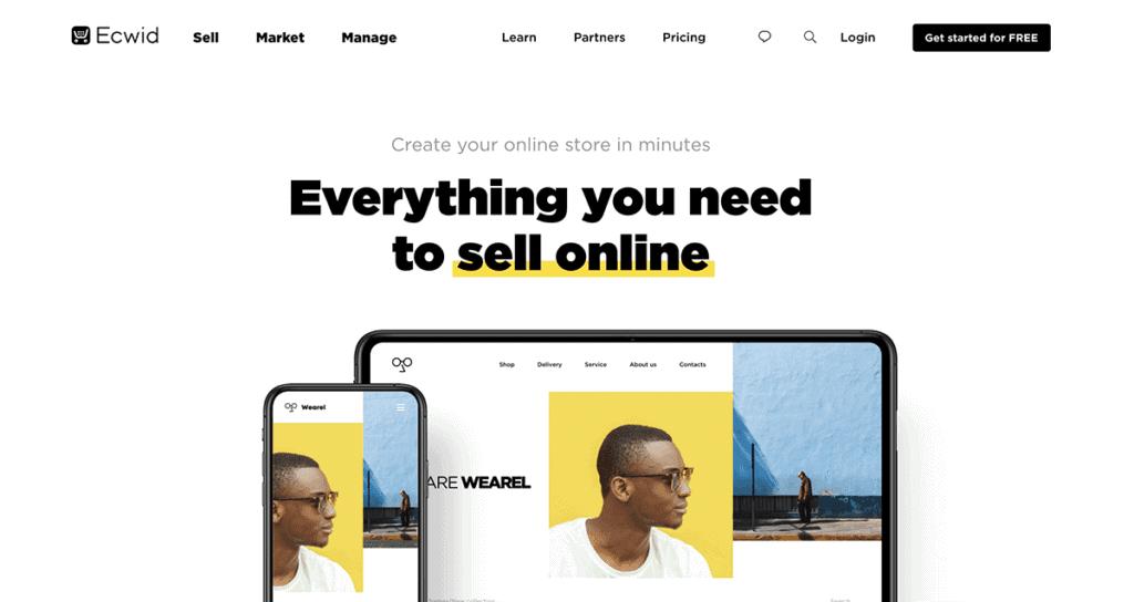 EcWid best ecommerce platform 2020