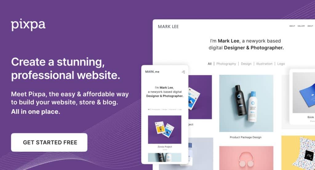 pixie free online portfolio
