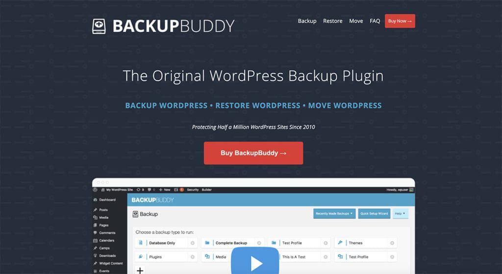 BackupBuddy premium plugin wordpress