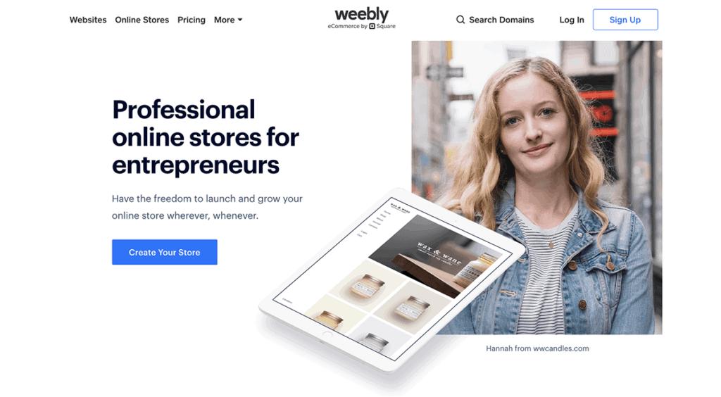 Weebly ecommerce easy platform