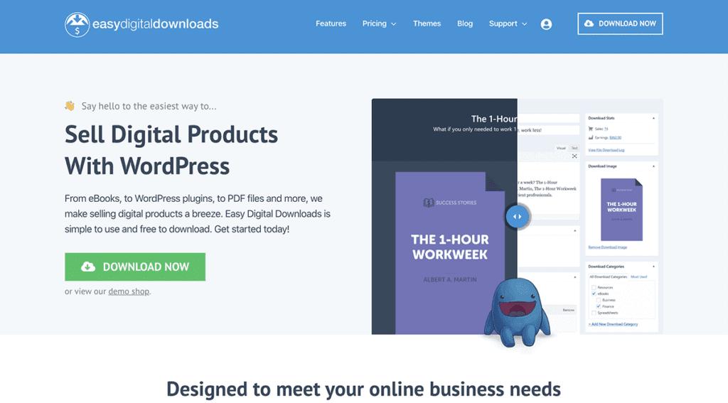 EasyDigitalDownloads ecommerce platform for WordPress 2020