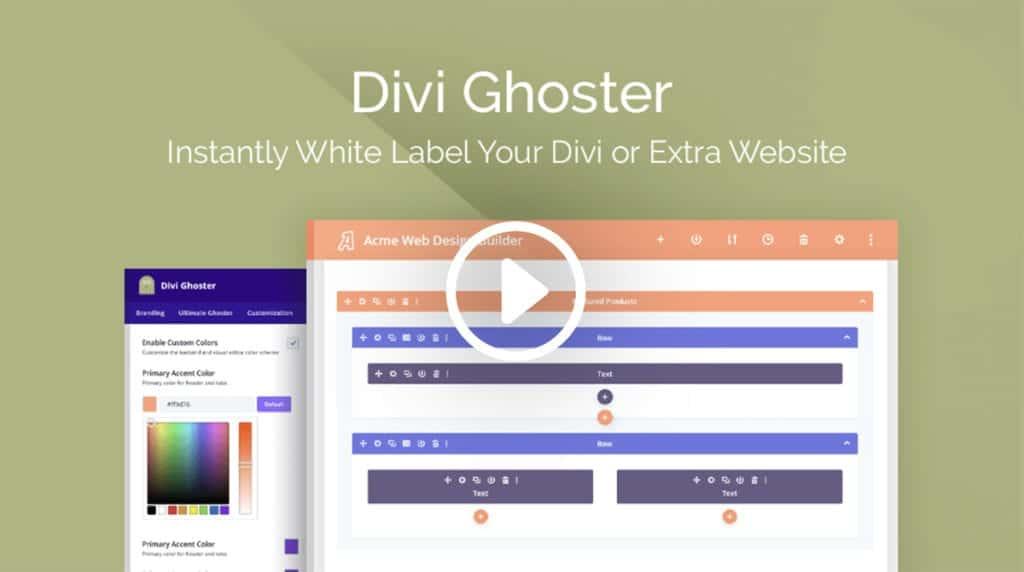 Divi Ghoster for White Label Divi Website