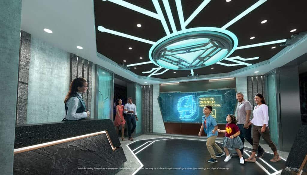 Disney Wish - Family Dining - Worlds of Marvel
