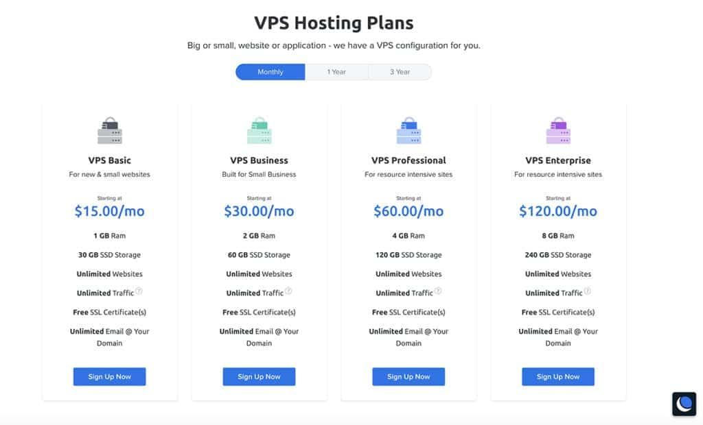 dreamhost vps hosting price plans