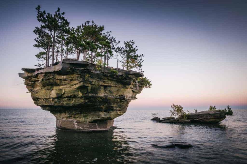 Turnip Rock in Apostle Islands.