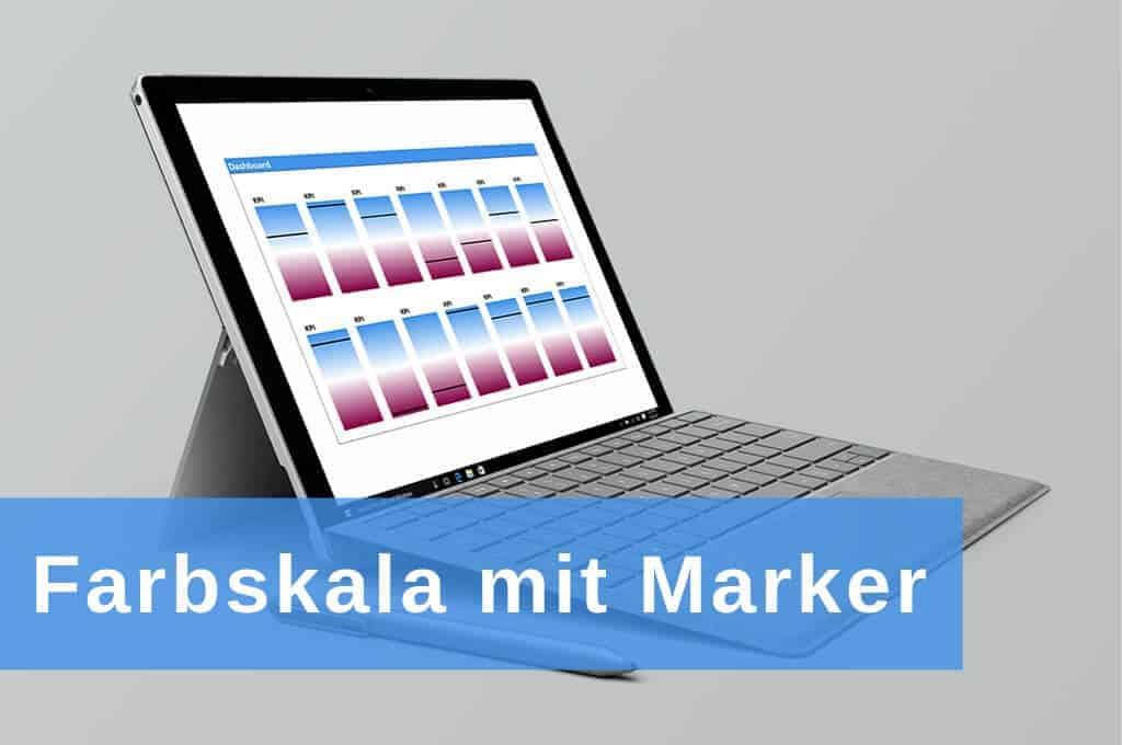 Excel Insights: Dashboard mit Farbskala mit Marker für KPIS